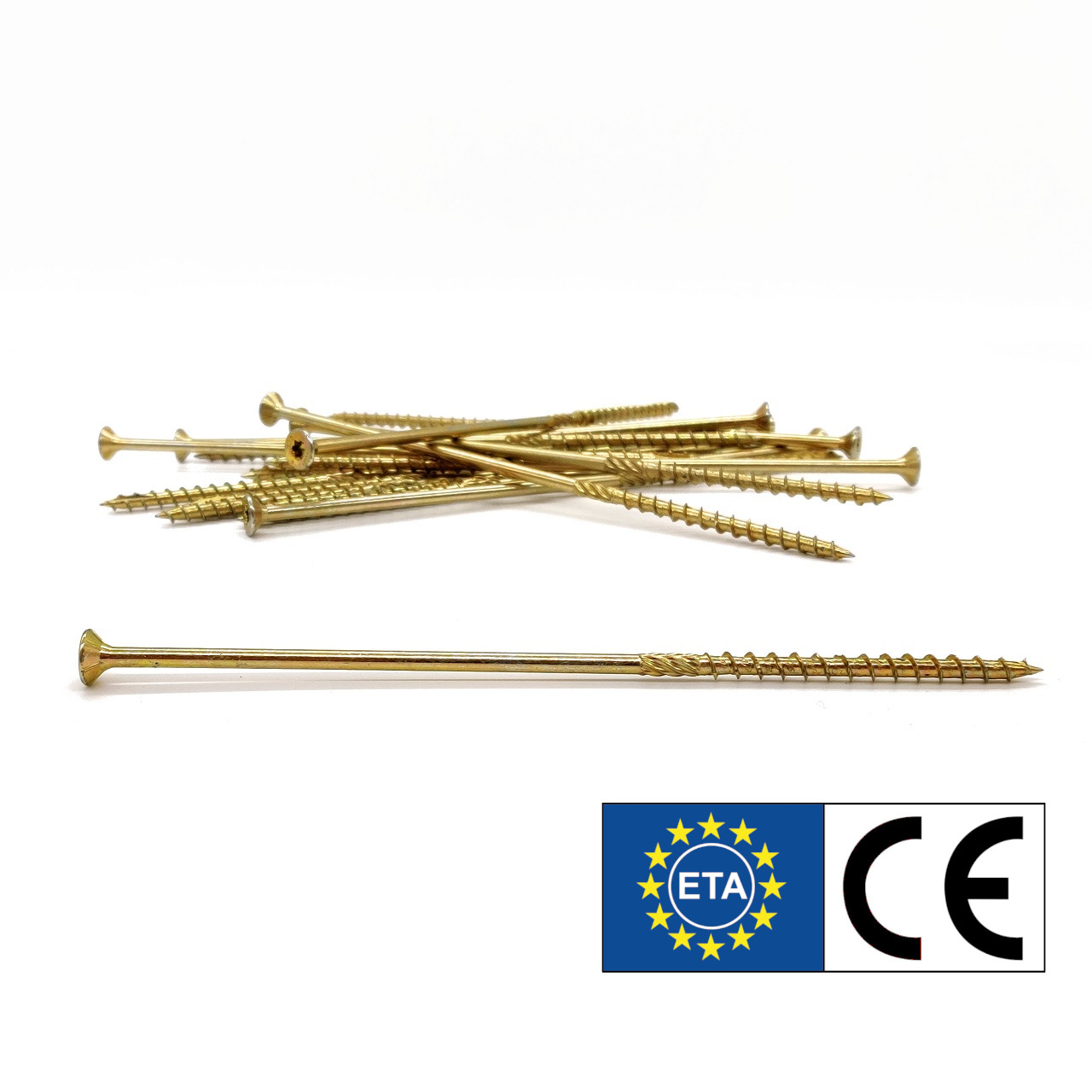 adunox SuperUni Holzschrauben / Spanplattenschrauben | gelb verzinkt | 5,0x40 | 200 Stk