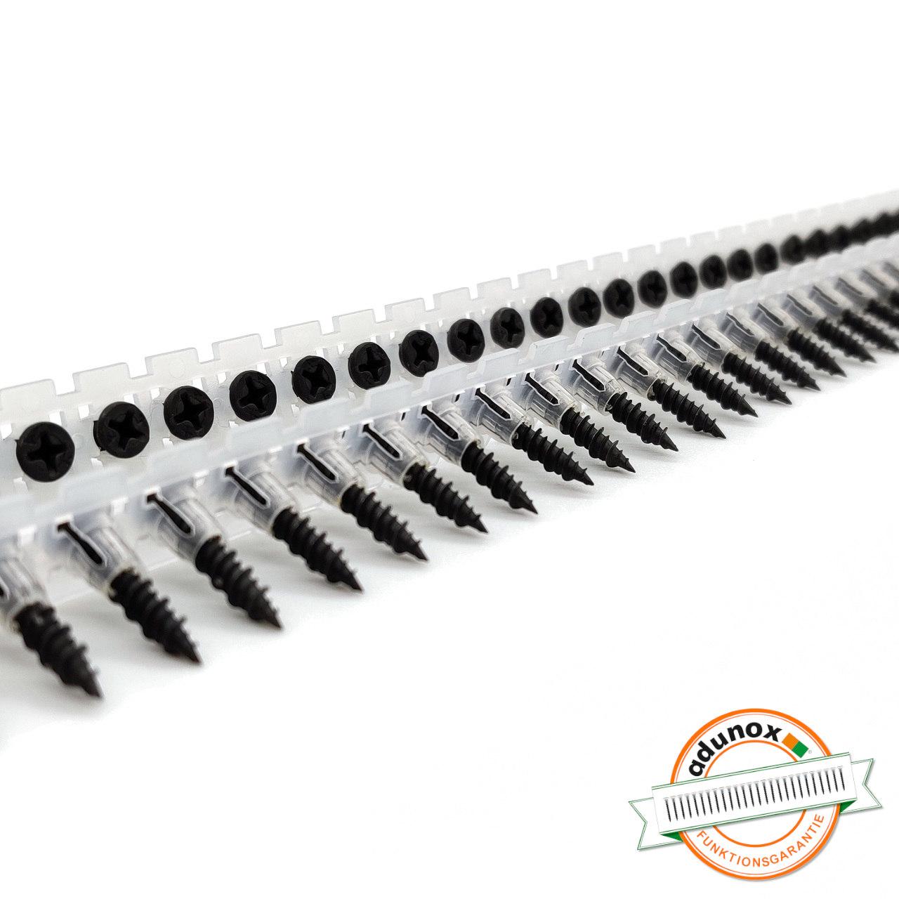 Magazinierte Faserplattenschrauben | phosphatiert | Hi-Lo-Gewinde | 3,9x22