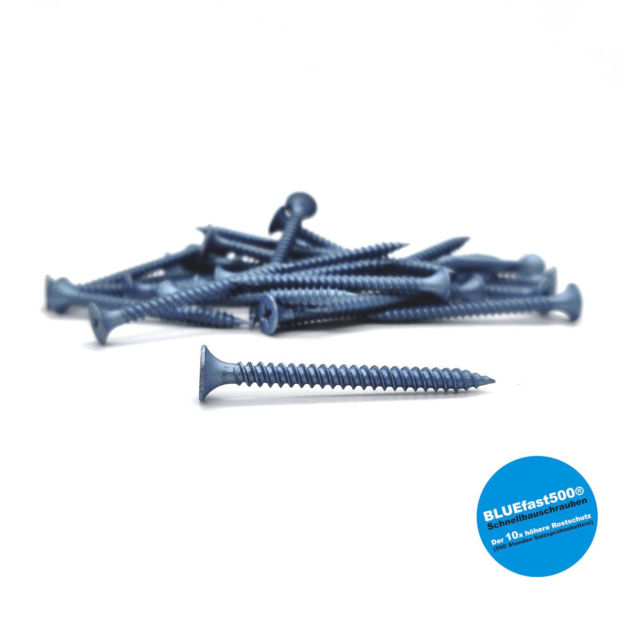 BLUEfast500® Schnellbauschrauben | Feingewinde | 3,9x25 | 1.000 Stk
