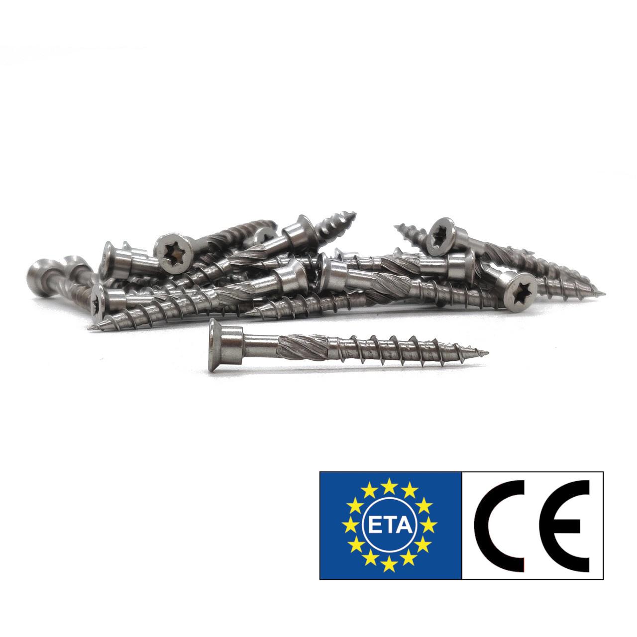 Terrassenschrauben | rostfreier Stahl | Zylinder-Senkkopf | 5,0x80 | 200 Stk